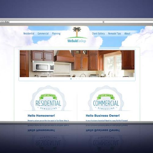 Website development and custom WordPress theme for We Build San Diego, local builder of commercial and residential real estate. This website won an Interactive Media Award (IMA) for Outstanding Achievement.
