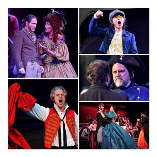 Pics of my students performing in  Les Miserables I directed