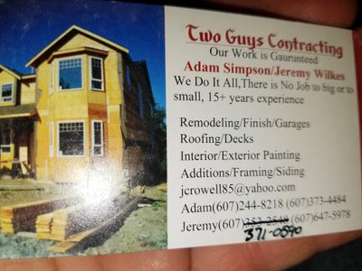Avatar for Two guys contracting Norwich, NY Thumbtack