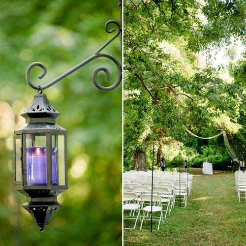 Lavender inspired backyard wedding