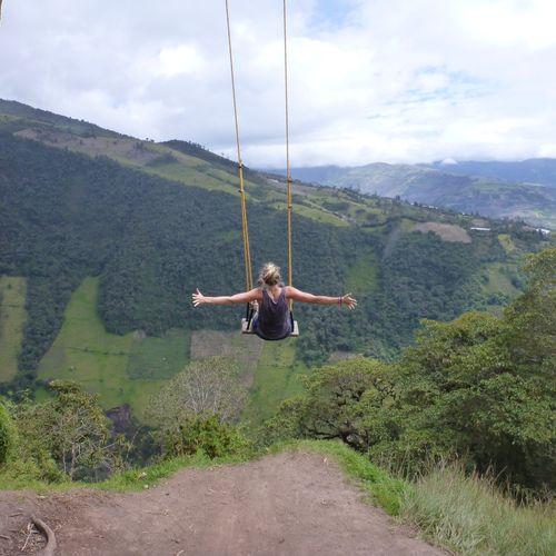 Swinging in Banos, Ecuador.