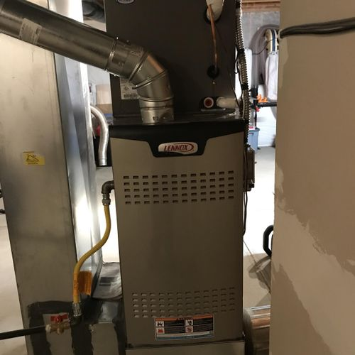 A new 80% two stage variable Lennox furnace that was installed by Elevation Mechanical