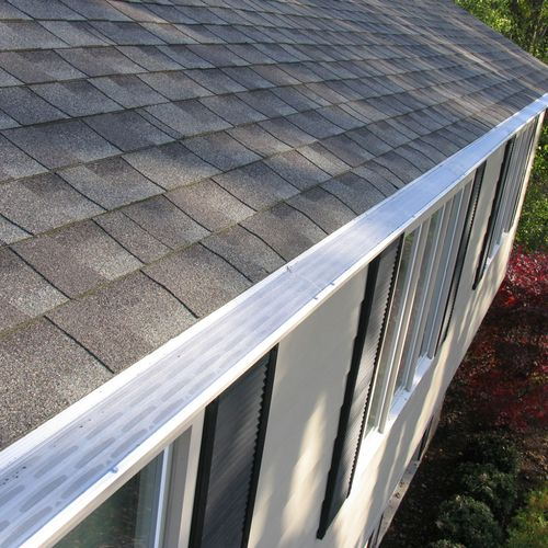 We love the consistent look of the gutter guard.