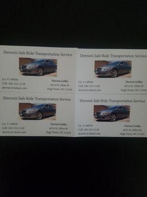 Avatar for Derron's Safe Ride Transportation Service Licen...