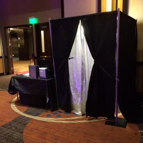 Traditional booth set up