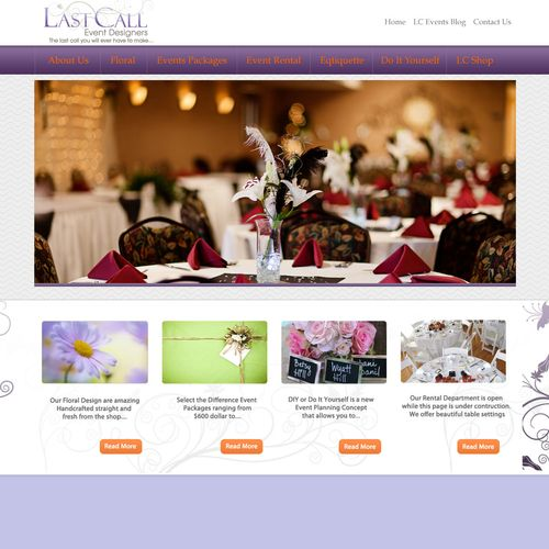 Website creation for Event Planning company