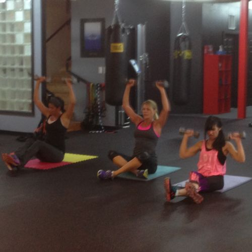 Small group training at my gym High Five Fitness Club in Centennial