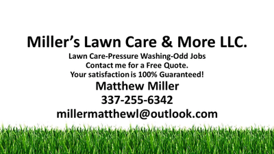 Avatar for Miller's Lawn Care & More LLC Erath, LA Thumbtack