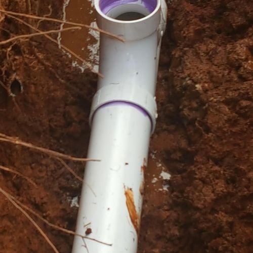 underground sewer drain repair