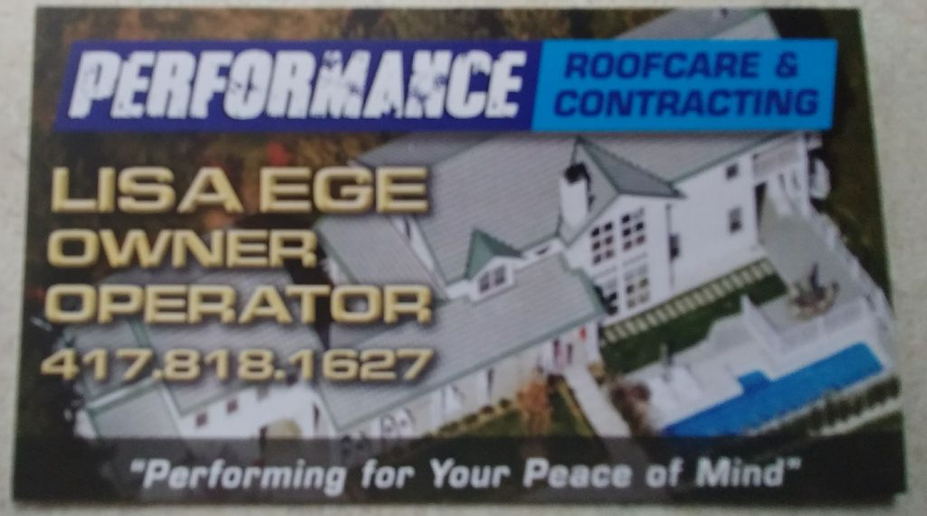 Performance Roof Care and Contracting