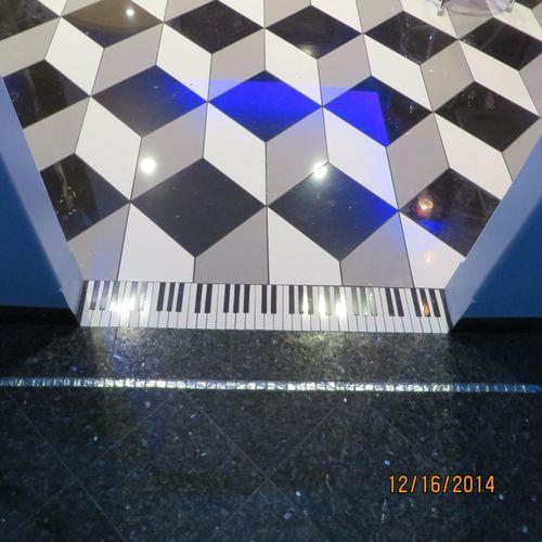 custom cut floor music studio
