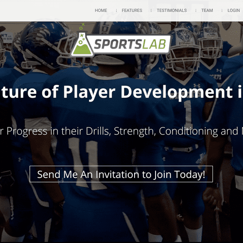 SportsLab is an app that helps track athletes training.