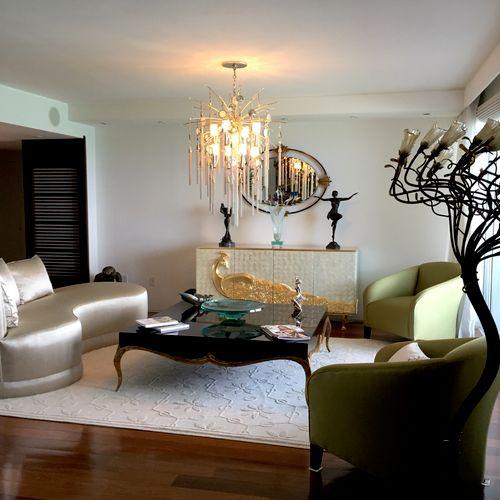 Euro-chic living room