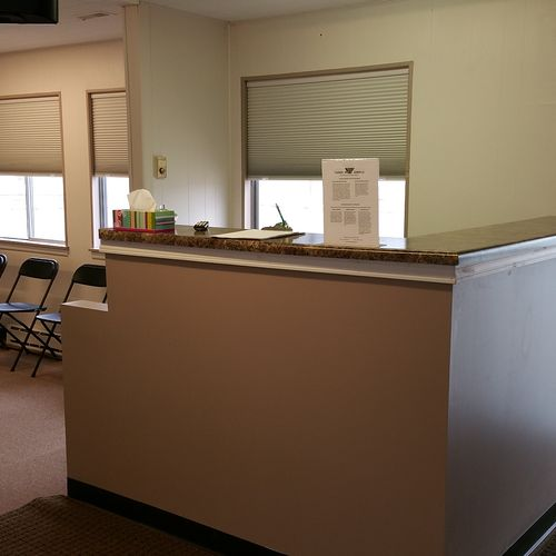 Our front desk, where our clients are warmfully welcomed.