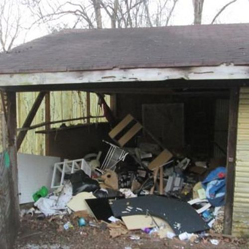 Before - Garage  / Shed Clean Out