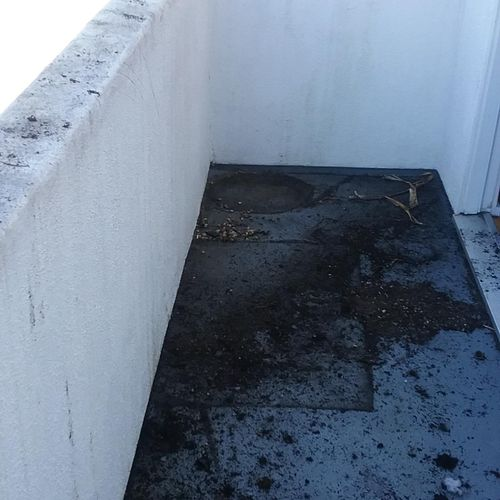 Before:  A dirty deck