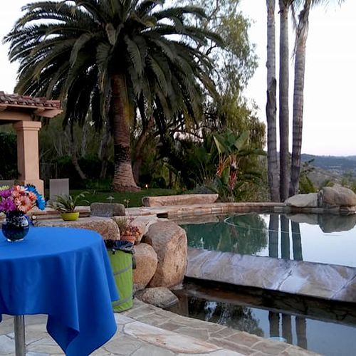 50 Guest Graduation. Gorgeous event view in Poway, CA!