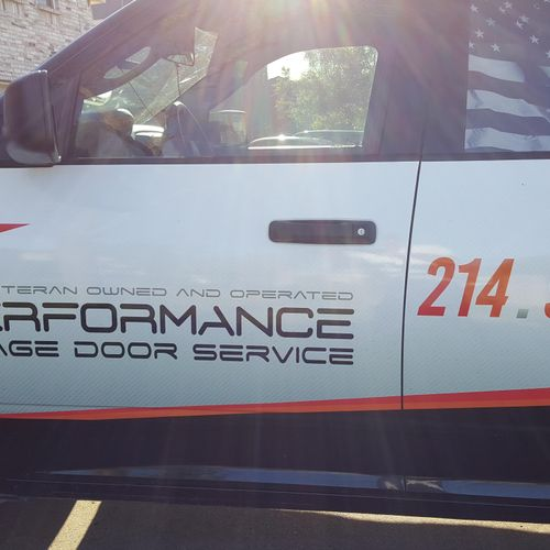 one of the service trucks for the north Dallas Fort Worth areas