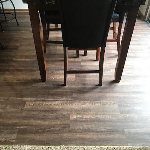 Install LVT Flooring For Customer