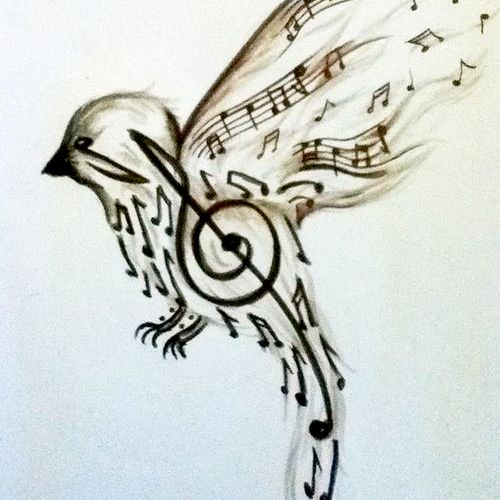 A student sent me this.  Love the art work of music symbols.