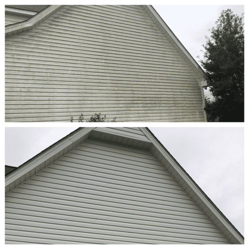 Before and after house clean