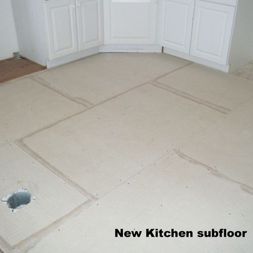 Kitchen remodel (1) - new cement board