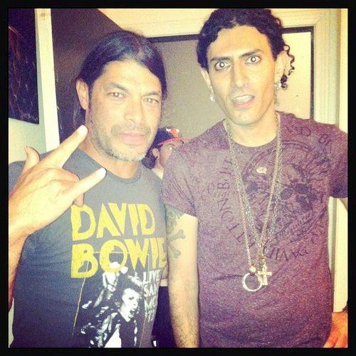 With Robert Trujillo from Metallica