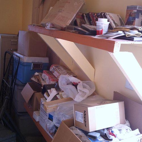 Supply Shelves Before