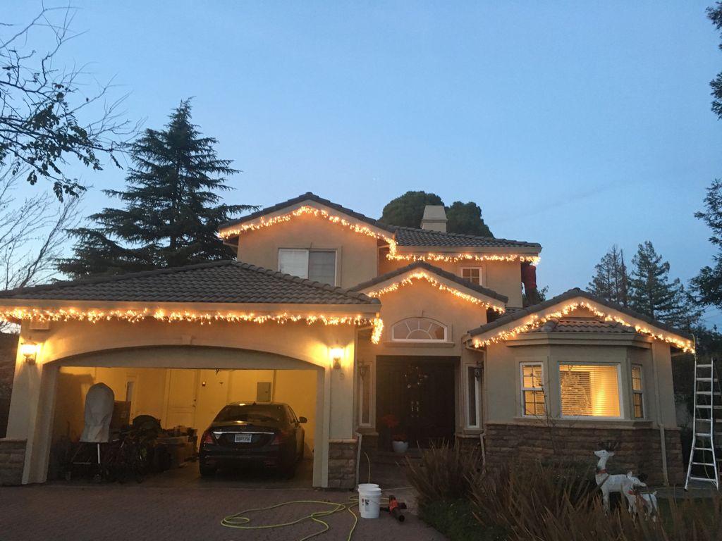 Garland lighting incandescent warm