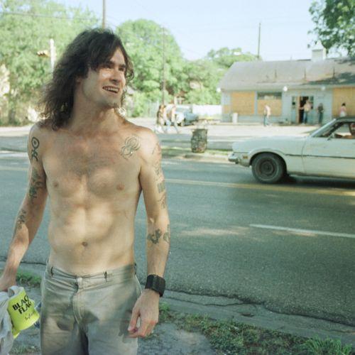 Henry Rollins on Westheimer Street, 1985.