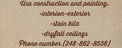 Avatar for USA construction and painting Bloomfield Hills, MI Thumbtack