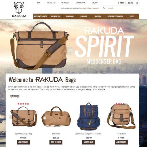 eCommerce Web Design Example 1