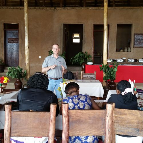 Teaching personal protection in Uganda - proper attitude, situational awareness, and skills necessary to handle unarmed or armed assailants.
