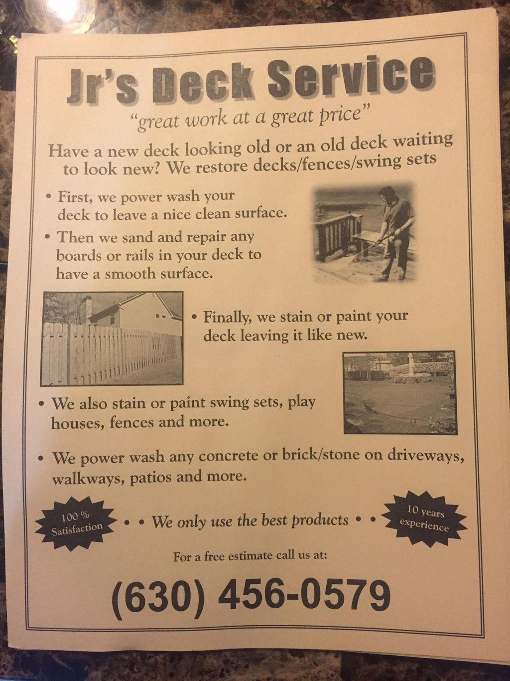 Jr's Deck and pressure wash services