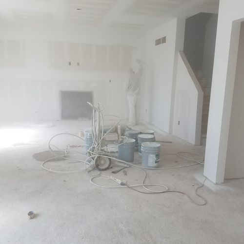 Priming the inside of a home