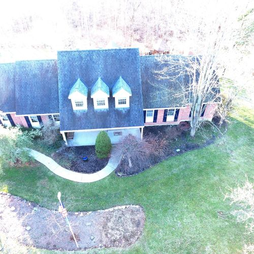 Overhead view from Drone