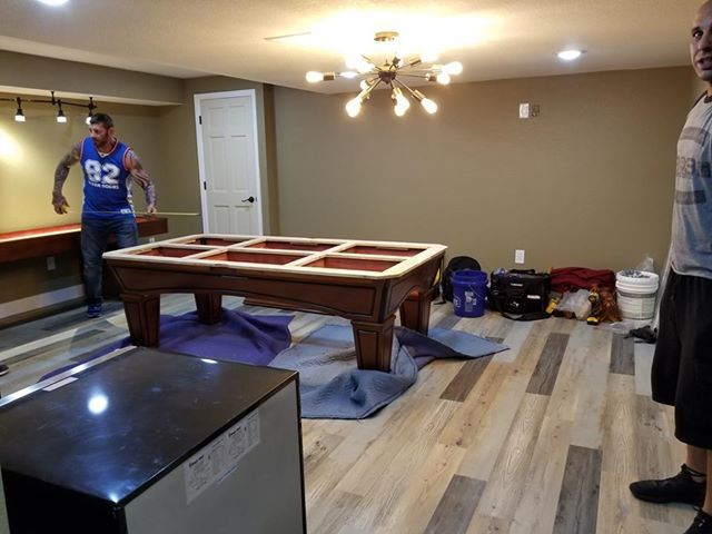 New Pool Table Installation