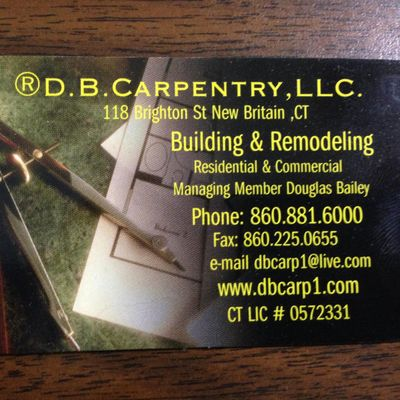 Avatar for D.B.Carpentry, LLC New Britain, CT Thumbtack