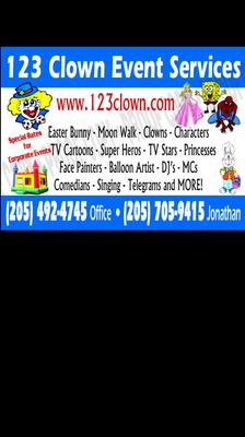 Avatar for 123 Clown Birmingham, AL Thumbtack