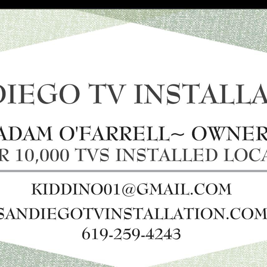 San Diego Tv Installation .Com By Adam #1 $40