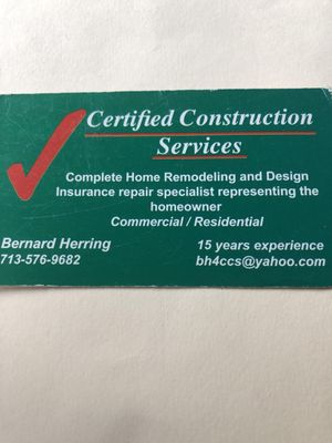 Avatar for Certified Construction Services Spring, TX Thumbtack