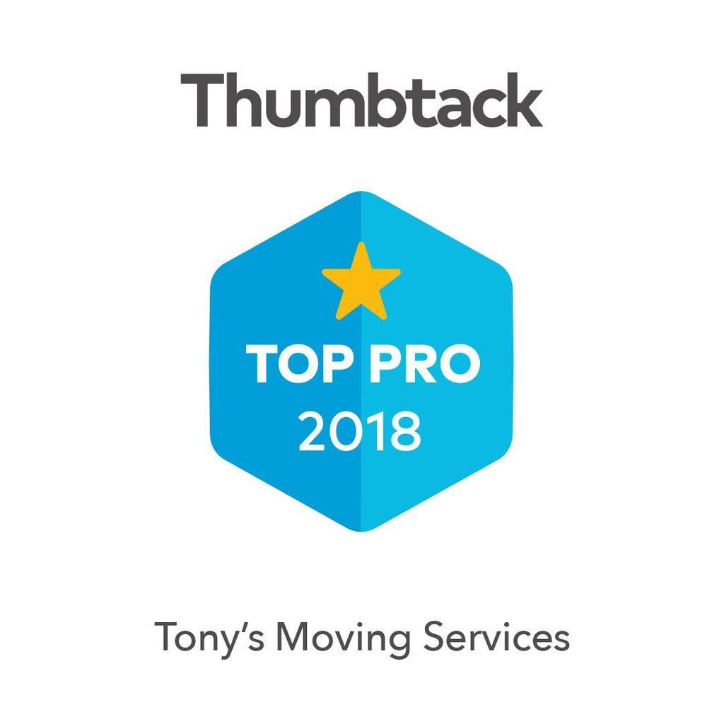Tony's moving services