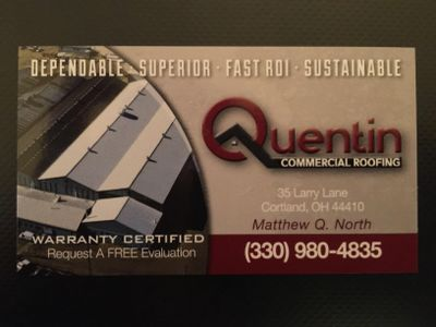 Avatar for Quentin Commercial Roofing, LLC Cortland, OH Thumbtack
