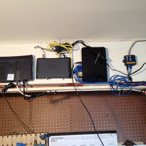 "Main- ""brain"" portion of the large Wi-Fi network I built for multi -unit property"