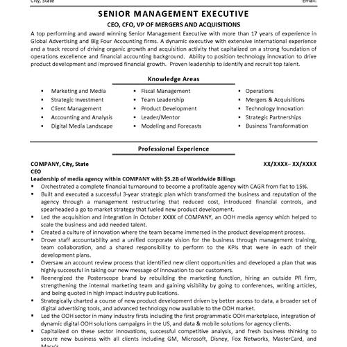 Financial Services Executive