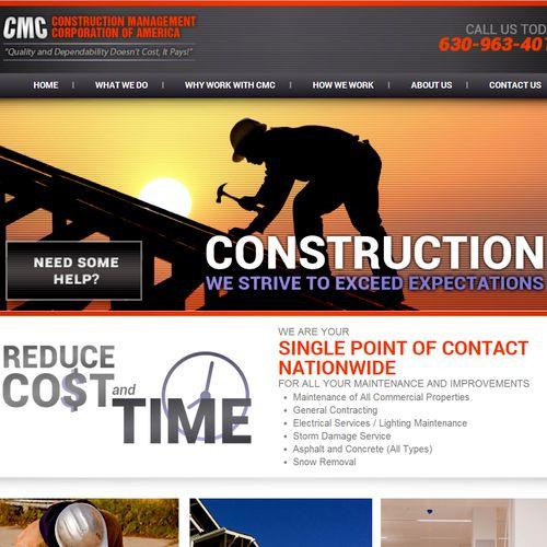 custom website design and development and logo