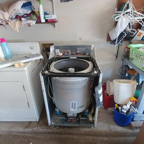 In case you're wondering what the inside of a top-loading washing machine looks like...