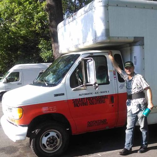our 17 feet box truck and Michael an owner