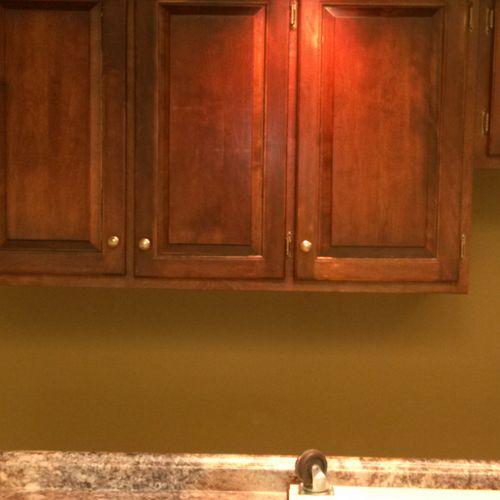 Breakroom Cabinet Installation