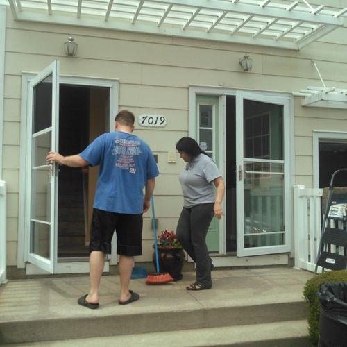Anderson (3000 series) storm door installation; $125